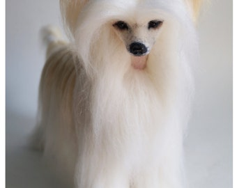 Chinese Crested /Personalized Pet /Felt dog/Needle felted Animal /Dog lover gift/Custom Pet Portrait / Miniature/  Wool Sculpture/ Memorial