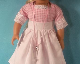 1774- 18 inch  Doll Dress & Apron