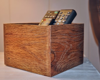 Reclaimed Wood Box, Pallet Wood Remote Box, Living Room Remote Box, Box For Remote, Salvaged Wood Box, Living Room Decor