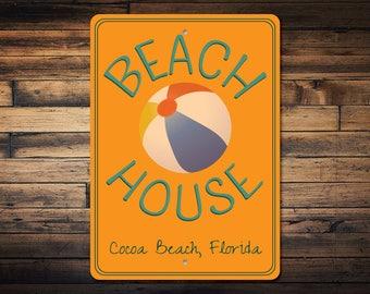 Favorite Beach Sign, Beach Ball Sign, Beach House Sign, Custom Beach House Decor, Beach Gift, Beach Ball Decor - Quality Aluminum ENS100057