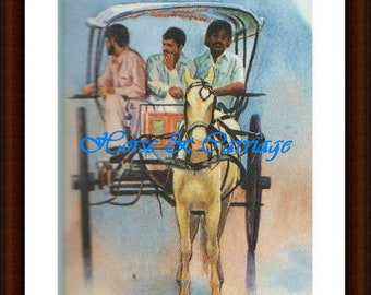 Carriage Ride oil on paper
