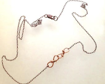 """two linked together - """" japan chain links """" - 14k rose gold special links x two - camille hempel design"""