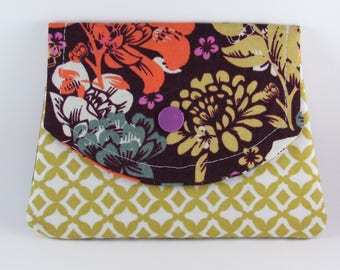Womens Fabric Wallet, Small Womens Wallet, Credit Card Holder, Gift for Her Under 20