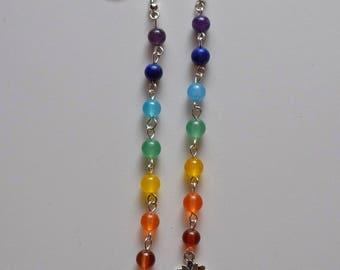 Ananda Seven Chakras Lotus dangle earrings