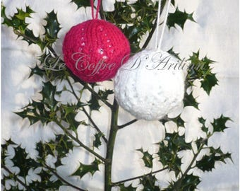 Christmas ornaments, set of 2
