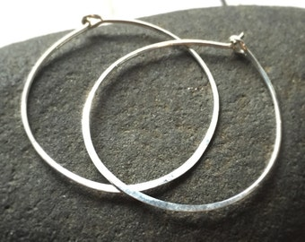 Sterling Silver Hoop Large Hoop Earrings 14k Gold Filled Hoop Earrings Sterling Silver Hoops 14k Rose Gold Filled Hammered Hoops
