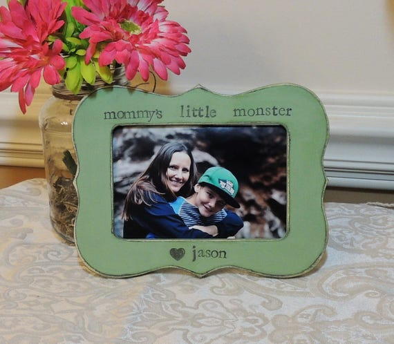 Mommy\'s little monster frame mothers day gift mom mama