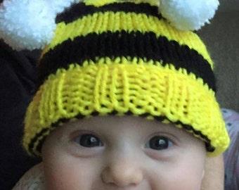 Bumblebee Baby Hat,.