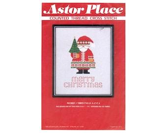 Santa Cross Stitch Sheet, Christmas Cross Stitch, Santa Cross Stitch, Astor Place Christmas Pattern, Christmas, by NewYorkTreasures on Etsy