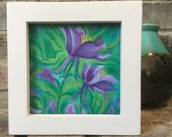 Framed Miniature Floral painting