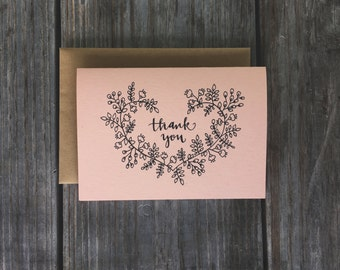 Thank You Cards for Wedding, Rustic Thank You Cards, Bulk Wedding Thank You Cards