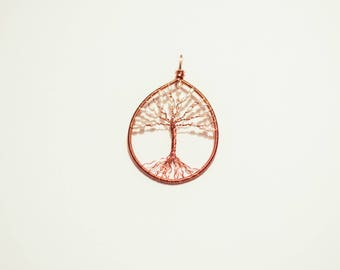 Cultured Pearl & Copper Tree of Life