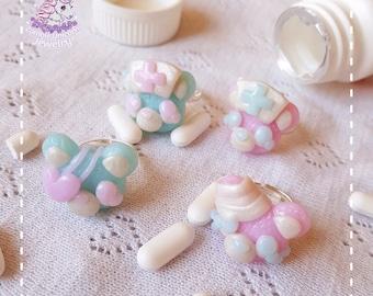 Beary Cute Hospital rings menhera yamikawaii pastel