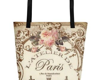 Paris Atelier Beach Bag
