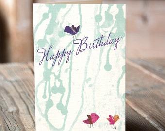 Happy Birthday Greeting Cards. Bird Lovers Birthday Card