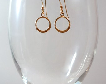 Gold Earrings Gold Filled Earrings Gold Hammered Earrings Minimalist Gold Earrings Small Gold Hoops Hammered Gold Hoop Earrings Gold Dangle