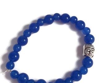 Blue Buddha and Jade bracelet