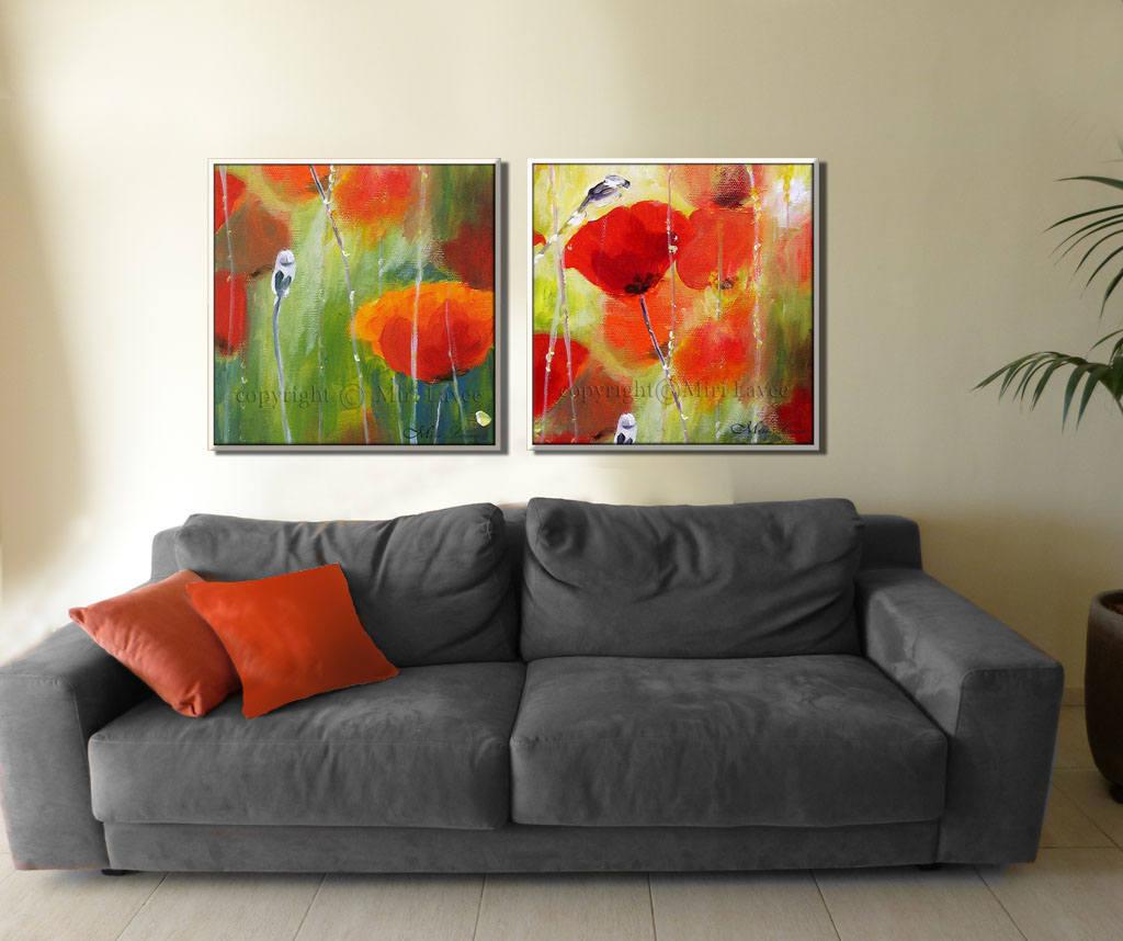 Gemälde auf Leinwand zeitgenössische Kunst Blumenmalerei