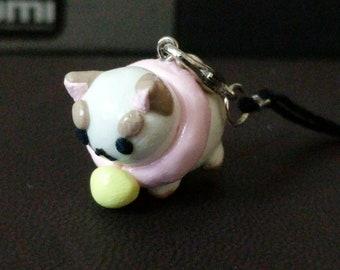 Puppy cat keychain