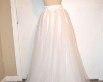 Custom made tulle maxi skirt in any color or length