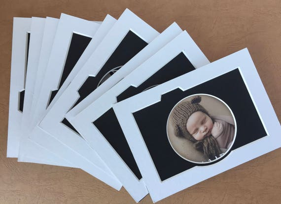 """Package of 10 - 5 x 7 Photo Mat - """"Say More Cheese"""""""