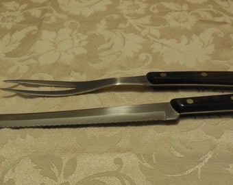Carving Knife Fork Tungsten Knife And Serving Fork Tungsten Carving Knife  Made In The USA Utica