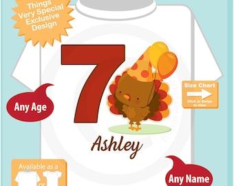 Turkey Birthday shirt - Birthday Girl shirt - Turkey Thanksgiving birthday party theme 11162016b