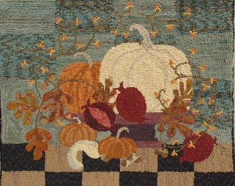 Fall Hooked Rug