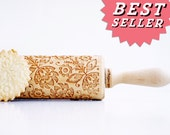 Rolling pin engraved FOLK - embossing rolling pin, laser engraved rolling pin. Polish FLOWER folk art. Wedding gift * Birthday Gift *