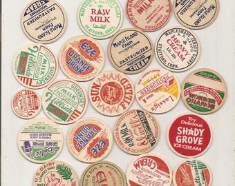 40 Old MILK Caps - DAIRY , JUICE, Etc.