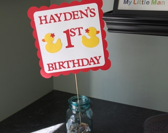 Rubber Duck Sign, Rubber Duck Buffet Sign, Rubber Duck Birthday, Duck Party Decorations