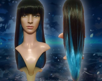 Mixed Black and Blue Lolita Cosplay Wig