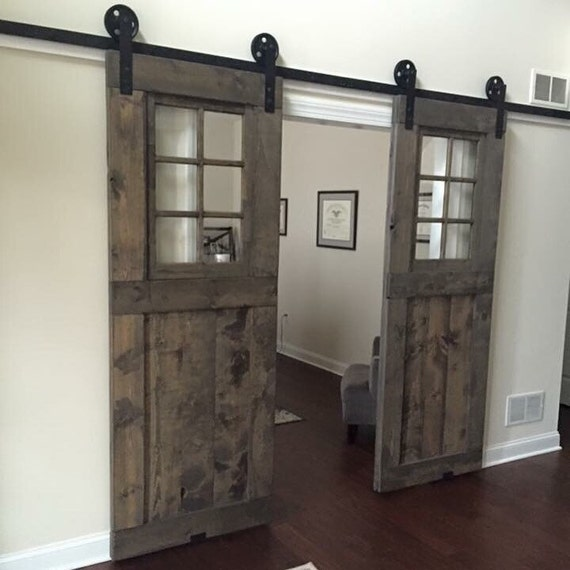 Sliding Barn Doors With Windows Cheerful With Sliding Barn Doors With Windows Best Hanging