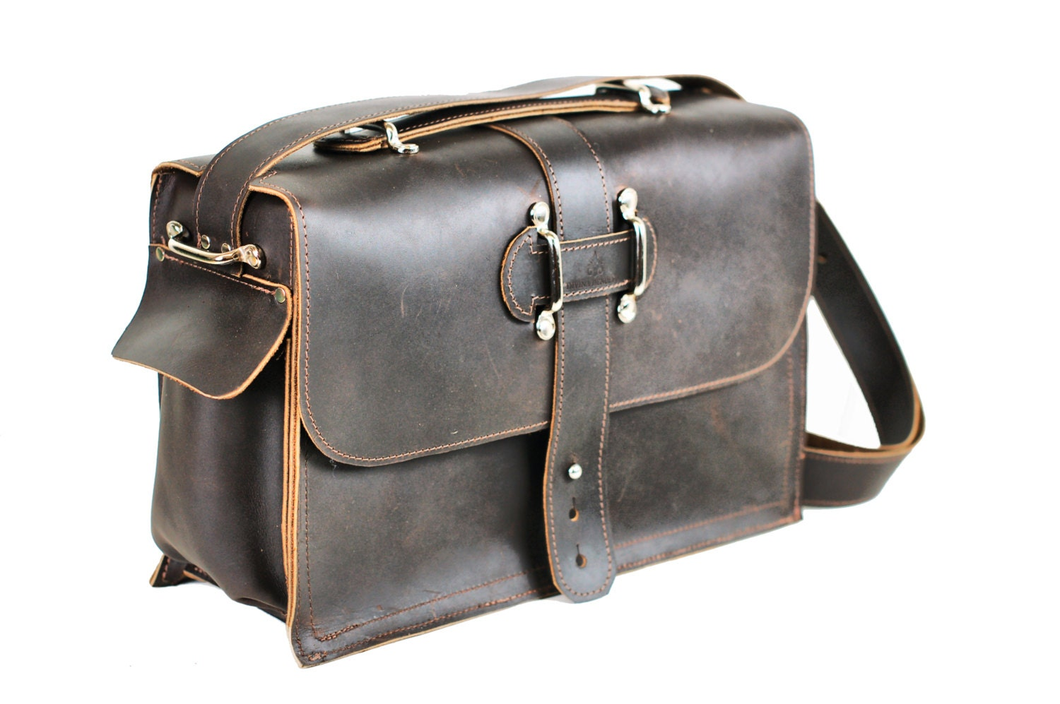Men S Leather Satchel Leather Messenger Bag Leather
