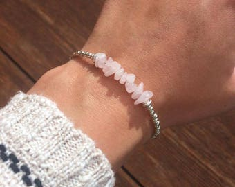 NEW Natural Rose Quartz Bracelet, Rose Quartz Anklet 5 Sizes, Mother's Day Gift Bracelet, Rose Quartz Jewellery by InTheMomentUK