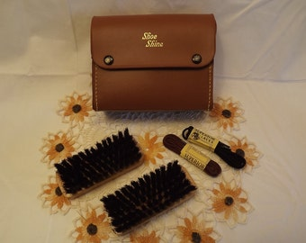 Buy Your Teenager a Summer Job! Vintage Shoe Shine Kit, Entrepeneur, First Job Kit, Employment for a Low Investment