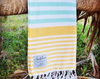 The Traveller Towel - 100% Cotton, Turkish Towel, Beach Towel, Bath Towel and Travel Towel