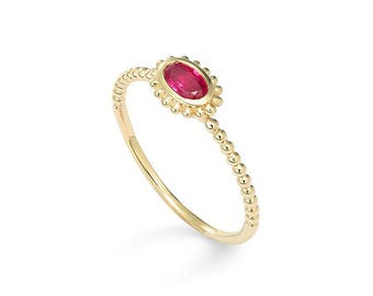 Ruby Ring, Ruby Ring Gold, 14k Ruby Ring, 14k Gold Ruby Stacking Ring, Ruby Delicate Wedding Ring Gold, July Birthstone Ring, July Ruby Ring