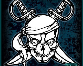 Pirate #4 Stencil Template
