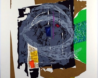 Seong Moy, Chinese/American (1921 - 2013) Signed, Vintage Serigraph Limited Edition #300 Numbered