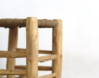 Little moroccan wooden stool.