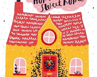Zuhause süße Zuhause drucken