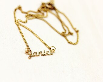 Janice Name Necklace