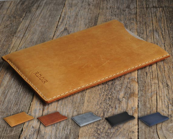 Case Cover for ASUS ZenBook Flip Chromebook UX331 UX305 PERSONALIZED Your Name Waxed and Aged Leather Sleeve Rough Style Bag.