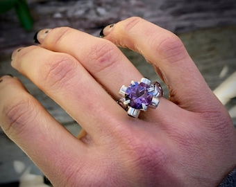 Amethyst Crown Ring Size 6