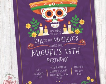 Dia De Los Muertos - Birthday Invite  - DIGITAL FILE