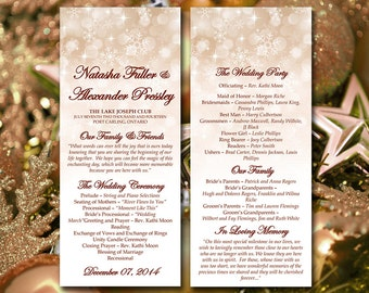 "Printable Program Template Instant Download   Winter Wedding Program ""Snowflake Showers"" Gold Champagne Ceremony Program DIY Wedding Program"