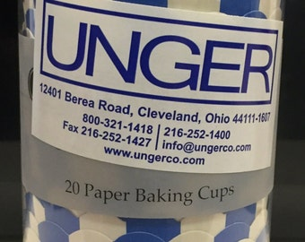 Blue Striped Paper Baking Cups