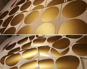 Gold Polka Dots - Peel and Stick Polka Dots - Metallic Gold Decals - Dots Decals