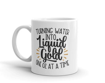 Turning water into liquid gold breastfeeding Mug
